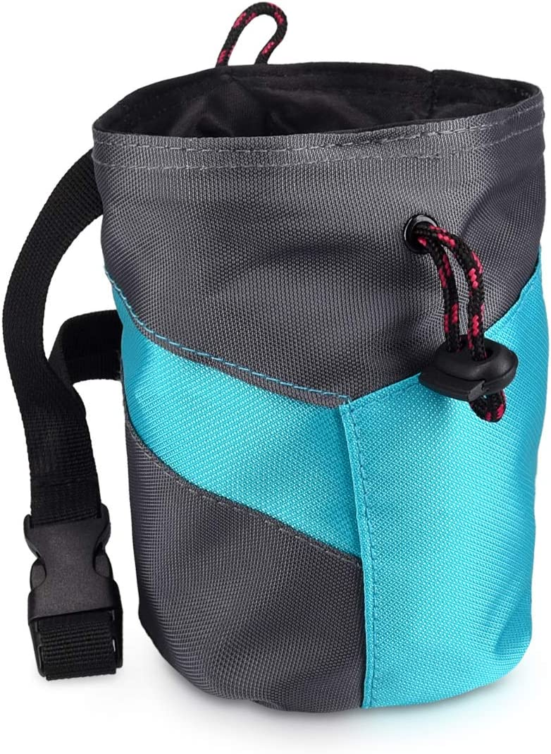 Bag for Chalk and Magnesium Carbonate with Drawstring and Pocket for Bouldering Weightlifting Gymnastics Navaris Chalk Bag for Rock Climbing