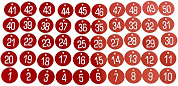 1-100 Engraved Number Discs Gym Locker Pub Table Tags office Hotels warehouse