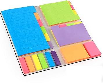 6x Haftstreifen Klebezettel Notizzettel Haftnotiz Haftmarker Notizenzettel