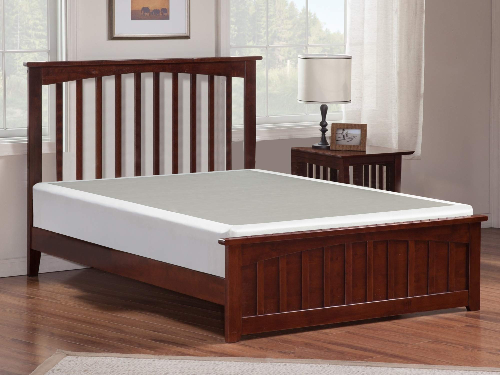Mayton 4-Inch Full Size Box Spring Low Profile Mattress Foundation/Strong Structure, 53x74