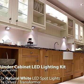 2 x 2,6 W LED Küche unter Unterschrank Keil Spot Beleuchtung ...