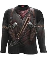 Spiral - Men - HOLSTER WRAP - Allover Longsleeve T-Shirt Black