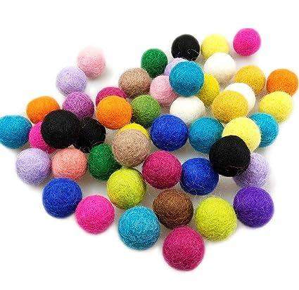 Amazon Com Blmusi 200pcs Wool Felt Ball 0 79 Inch 20mm Flocking