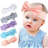 Baby Girl Headbands with Elastics Flower Bow Hair Accessories Set for Infant