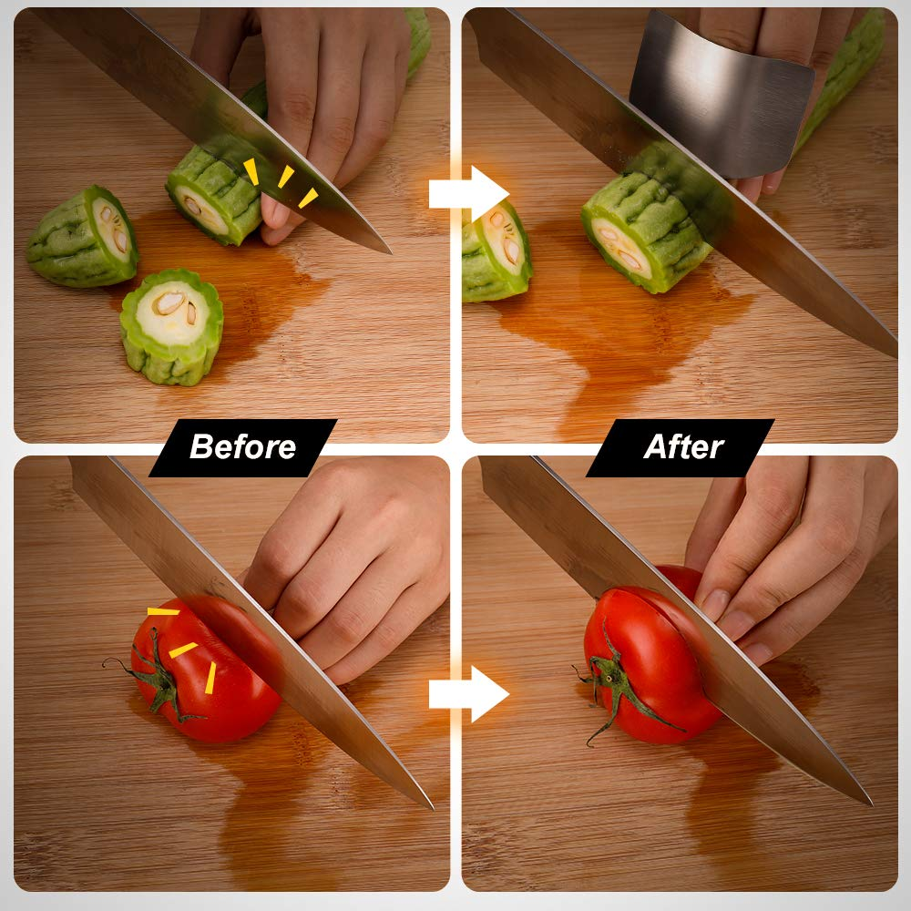 Sunhanny Kitchen Knife Sharpener,3-Stage Knife Sharpening Tool Helps Repair,Restore and Polish,Free Stainless Steel Finger Guard for Every Purchase by Sunhanny (Image #5)