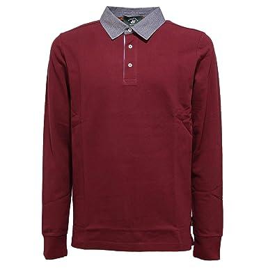 Beverly Hills Polo Club 4284K Polo uomo Burgundy Polo t-Shirt Man ...