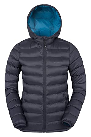b37abb71b Mountain Warehouse Seasons Womens Padded Winter Jacket - Water Resistant  Ladies Coat, Warm, Front Pockets, Adjustable Elastic Cuffs & Hood - for ...