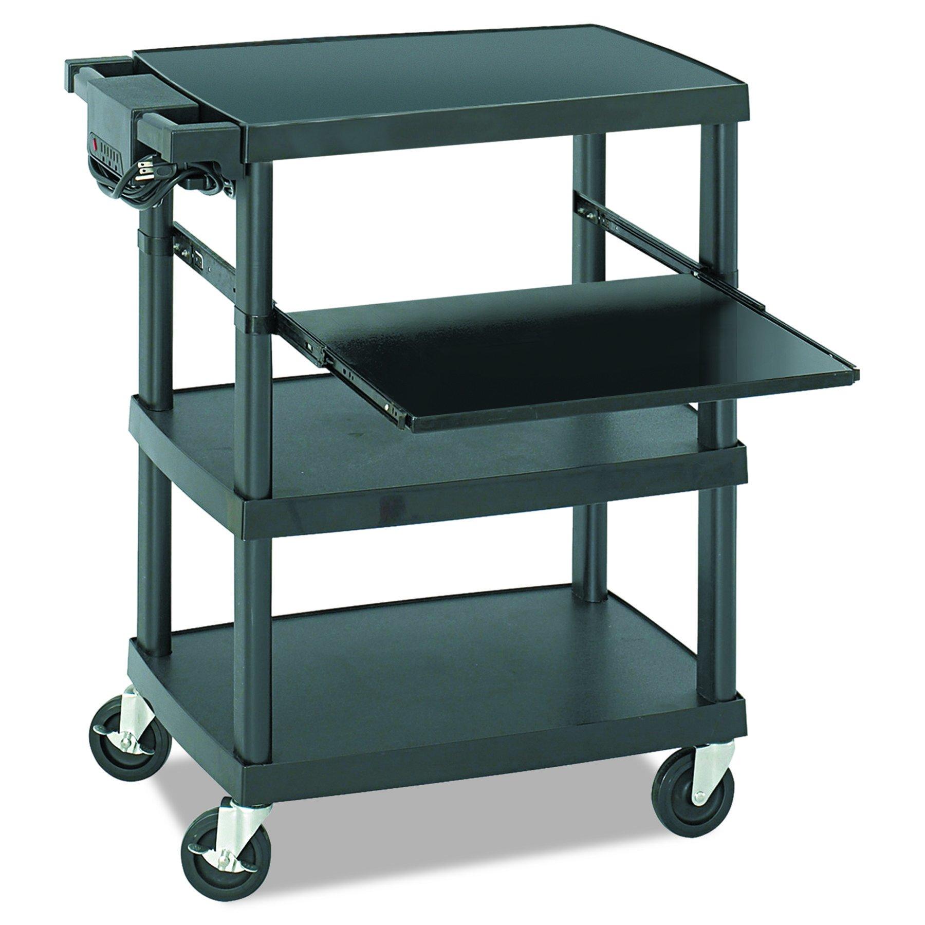 Safco Products 8929BL Multimedia Projector AV Cart, Black