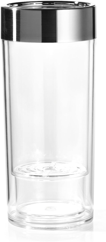 Prodyne WI-9 Wine-On-Ice Acrylic Wine Cooler with Brushed Chrome Rim