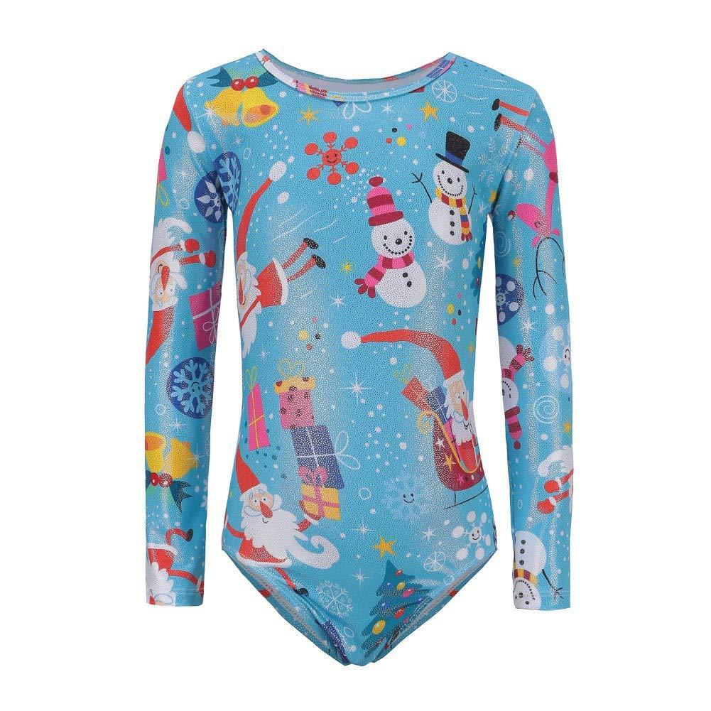 ROMANTIC BEAR One-Piece Long Sleeve Christmas Gymnastics Leotard Dancewear