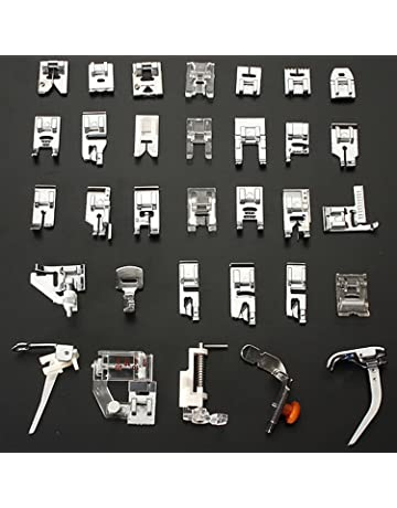 Kit de 32pcs multifuncional prensatelas para maquina de coser Presser Foot Feet Kit Machines Set (