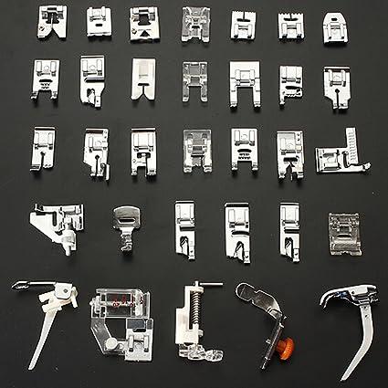 32 piezas | pies prensatelas de máquina de coser Universal | Compatible con todas las máquinas