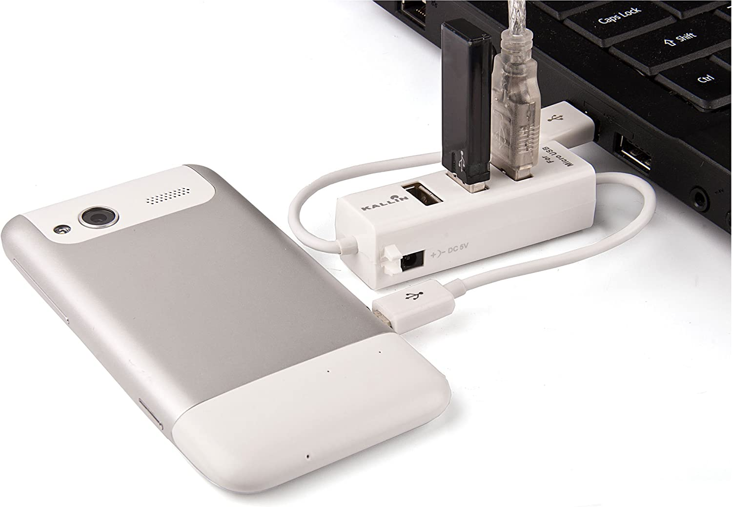 White 3.5mm Jack Earbud Earphones Miniature Mouse with Retractable Cord! MC966LL Desk Organizer Kit with White USB 2.0 3 Port HUB and x2 Golden Yellow Cable Organizers Professional Apple Macbook Air MC956LL