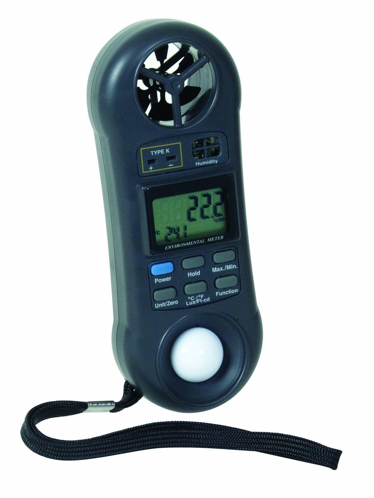 General Tools DLAF8000C 4 in 1 Environmental Air Flow Meter with Case by General Tools