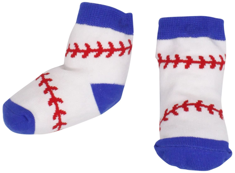 Amazon Com Mud Pie Baby Boy Sock Set Baseball 0 12 Months Infant
