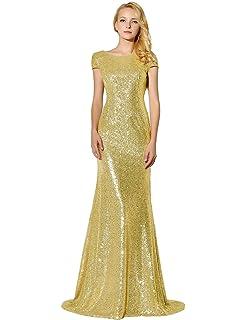 Amazon.com  Belle House Women s Prom Dresses Long Sequins Formal ... 3cdf903ced0a