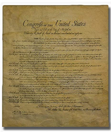 image relating to Bill of Rights Quiz Printable identify The Invoice of Legal rights, Legit Duplicate Revealed upon Antiqued Honest Parchment. 14 X 16