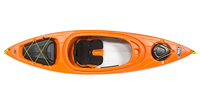 Amazon.com: Pelican Kayak Bounty 100 x Raft inflable con exo ...