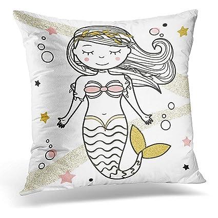 Funda de almohada para el pelo, diseño de sirena con texto en inglés ...