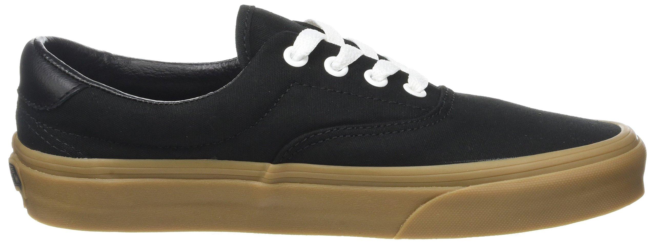 Vans Unisex Adults' Era 59 Canvas Gum Trainers, Black (Canvas Gum/Black/Light Gum), 10.5 UK 45 EU by Vans (Image #6)
