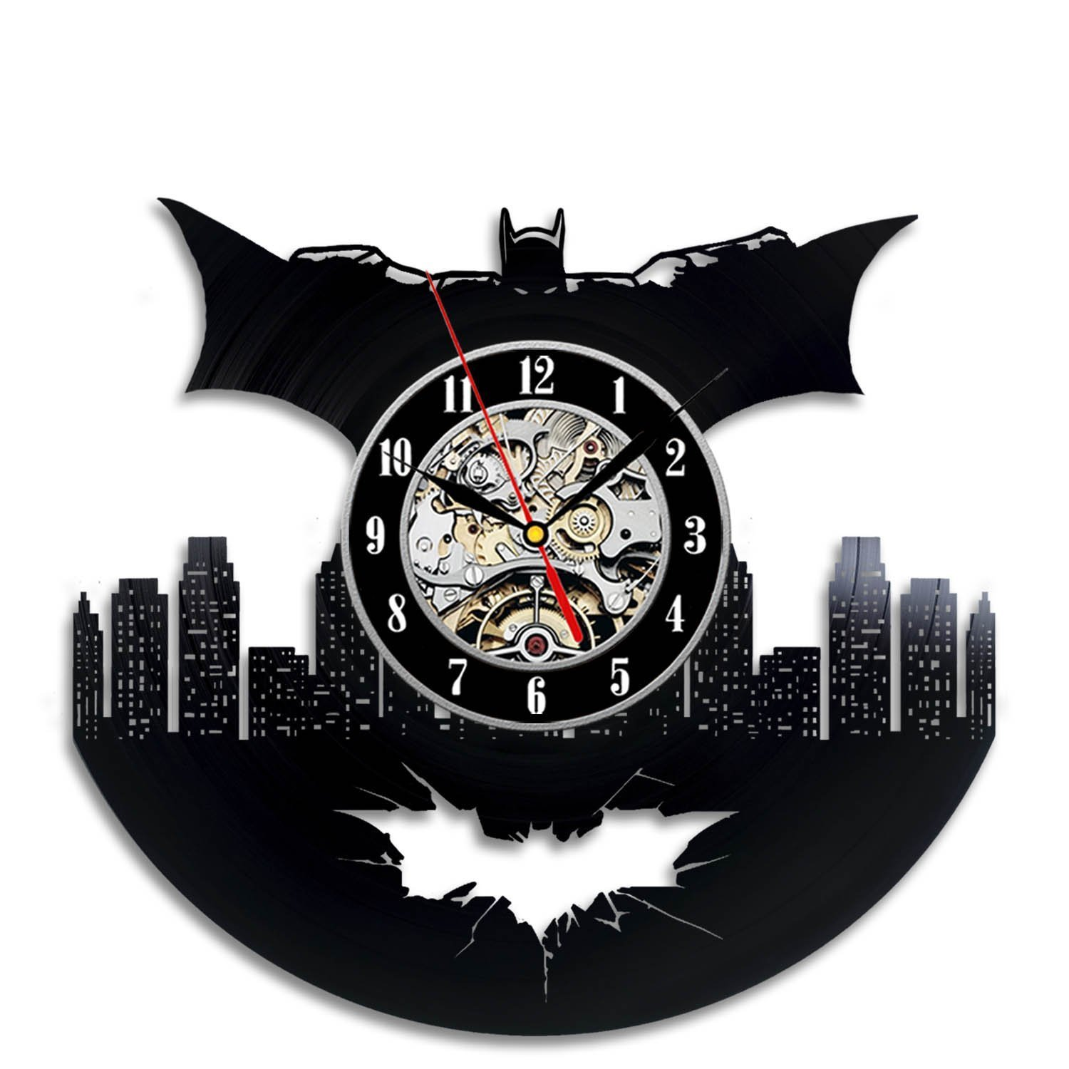 Batman Art Vinyl Wall Clock Gift Room Modern Home Record Vintage Decoration Vinyl Evolution