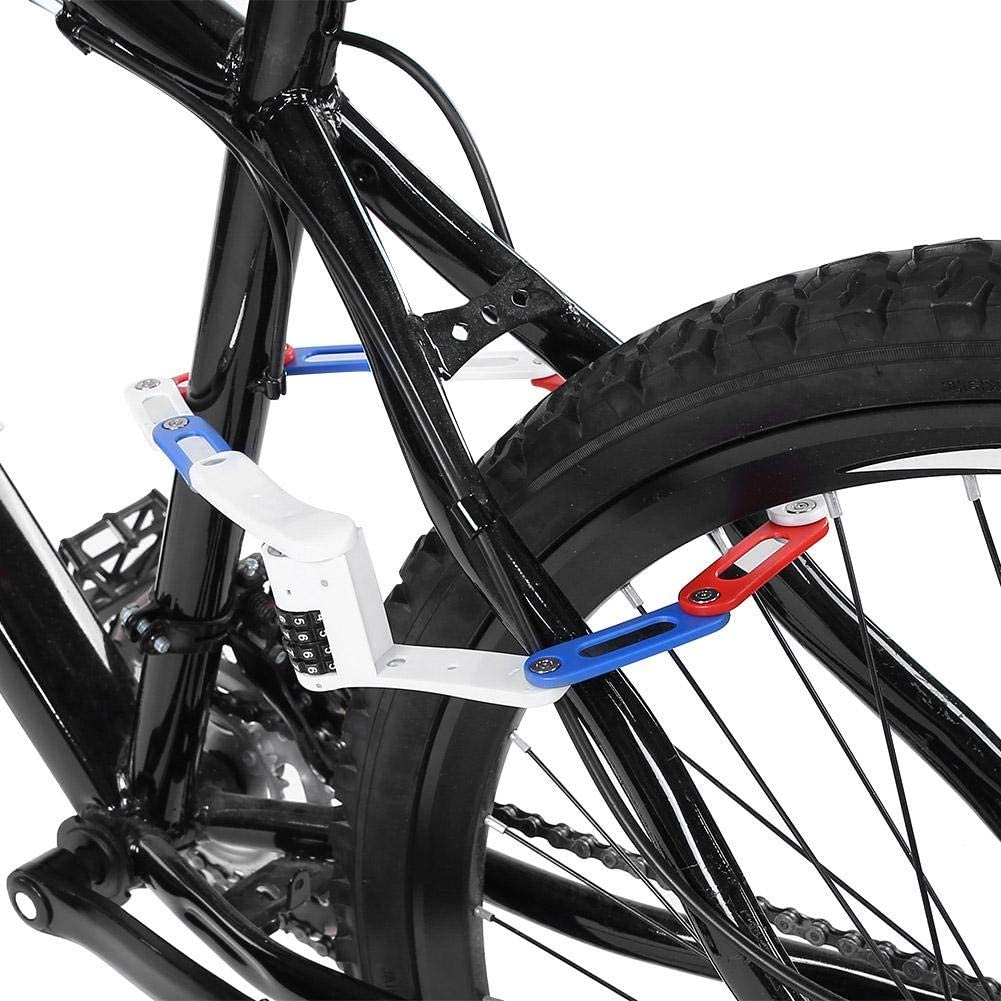 Alomejor Bicycle Folding Chain Lock Anti-theft 4-Digit Password Bike with High Strength Security for Bike Safety Tool