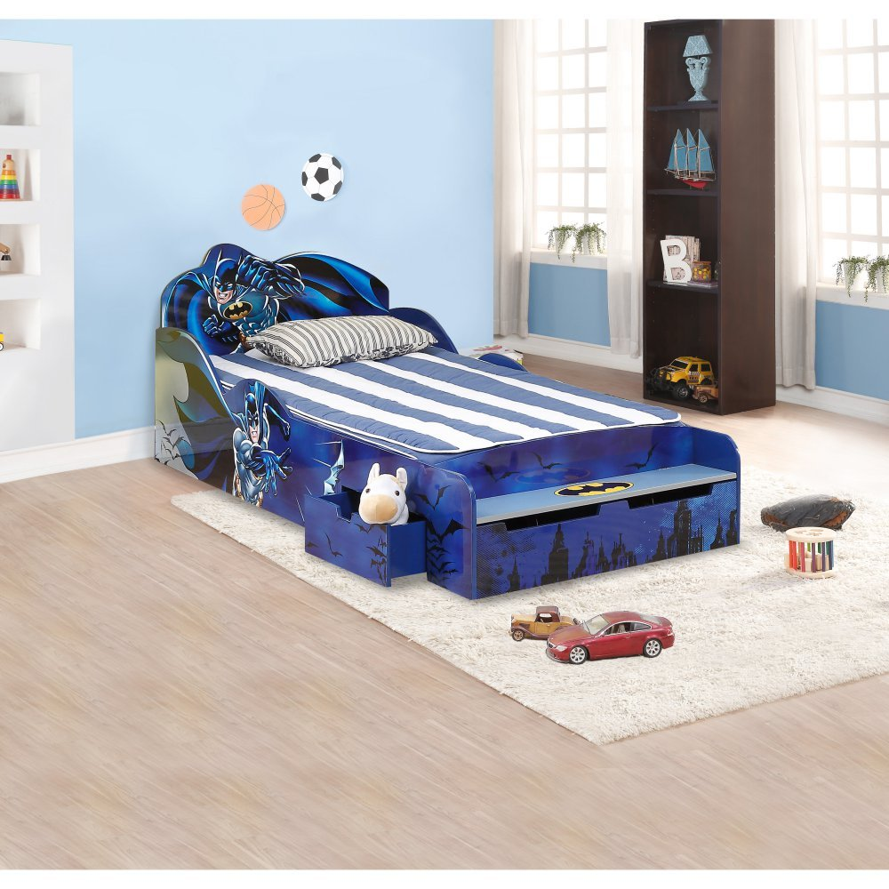 O'Kids 0111002 Batman Kid's Bed, 31.25'' Height, 41'' Wide, 85.25'' Length, Multicolor