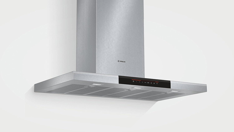 Bosch DWB098J50 - Campana (Canalizado/Recirculación, 860 m³/h, A, Montado en pared, LED, 897 Lux) Acero inoxidable: 473.18: Amazon.es: Grandes electrodomésticos