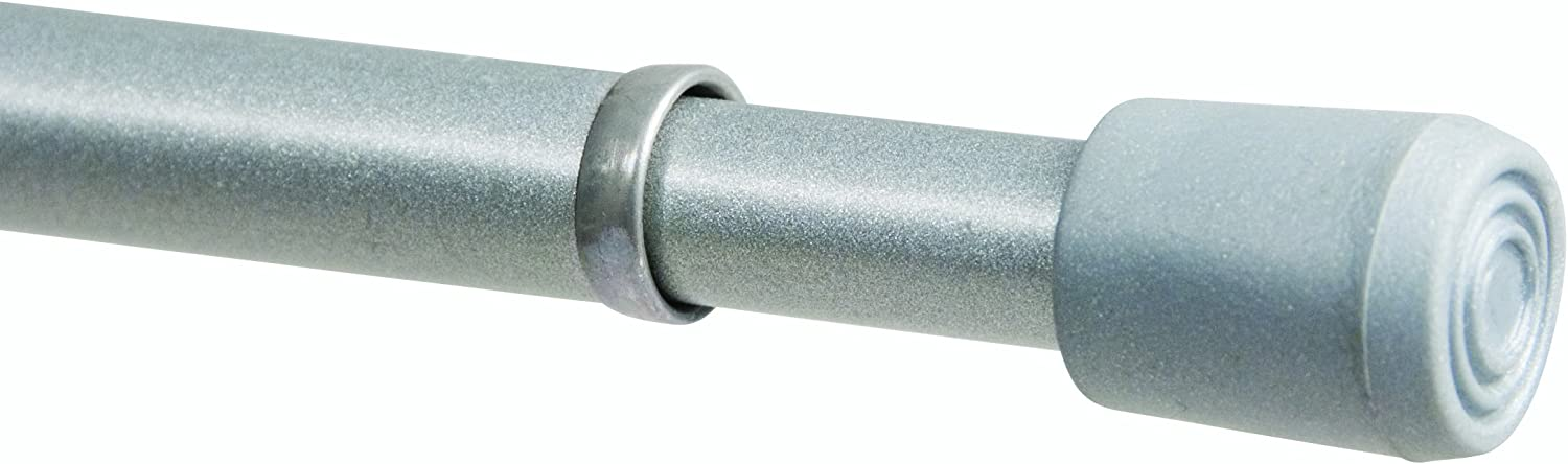 Kenney Strafford Spring Tension Rod, 28 inches to 48 inches, Pewter