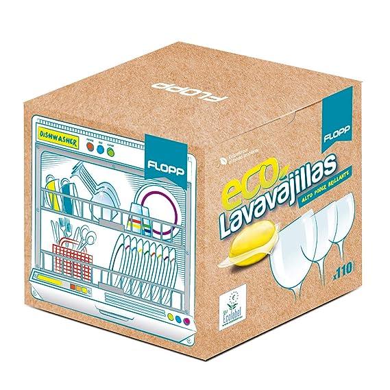 FLOPP - Lavavajillas Ecológico,   Cápsulas Lavavajillas Eco Brillo ...