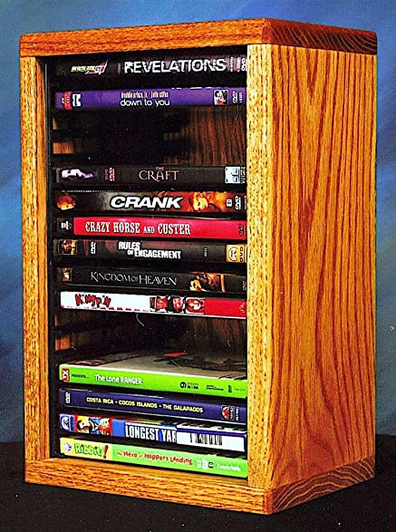 Desktop DVD Storage W Individual Locking Slots (Dark)