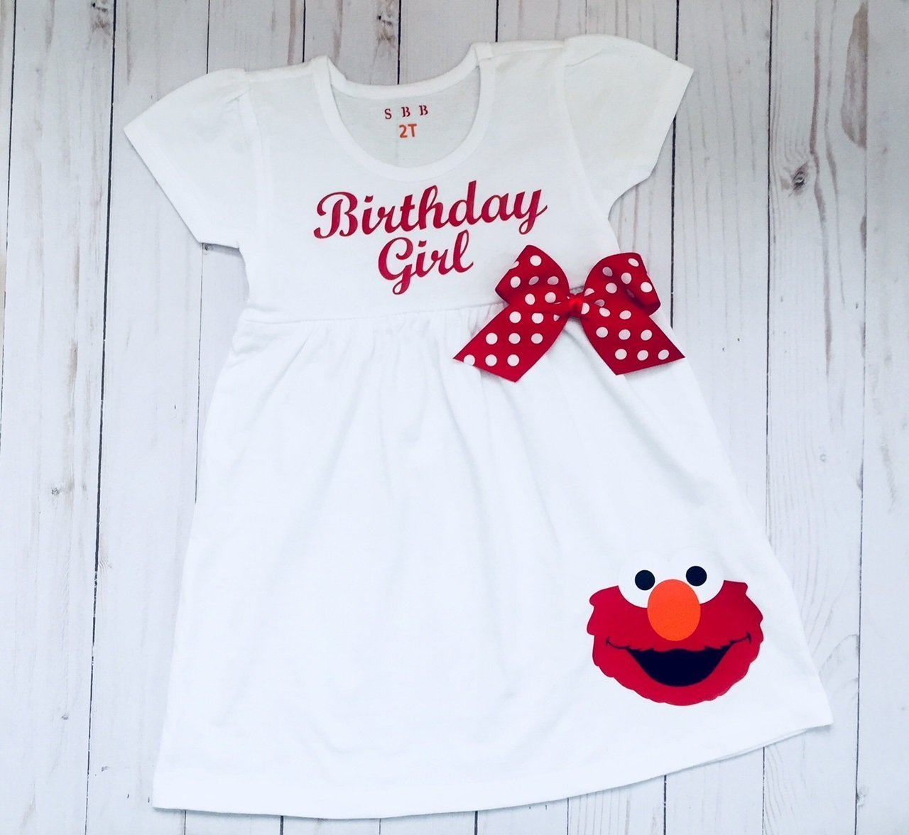 Elmo Birthday Dress outfit for girls