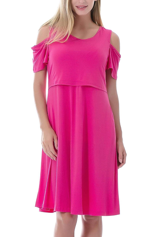Smallshow DRESS レディース B07H3GWCH5 Medium ローズレッド ローズレッド Medium
