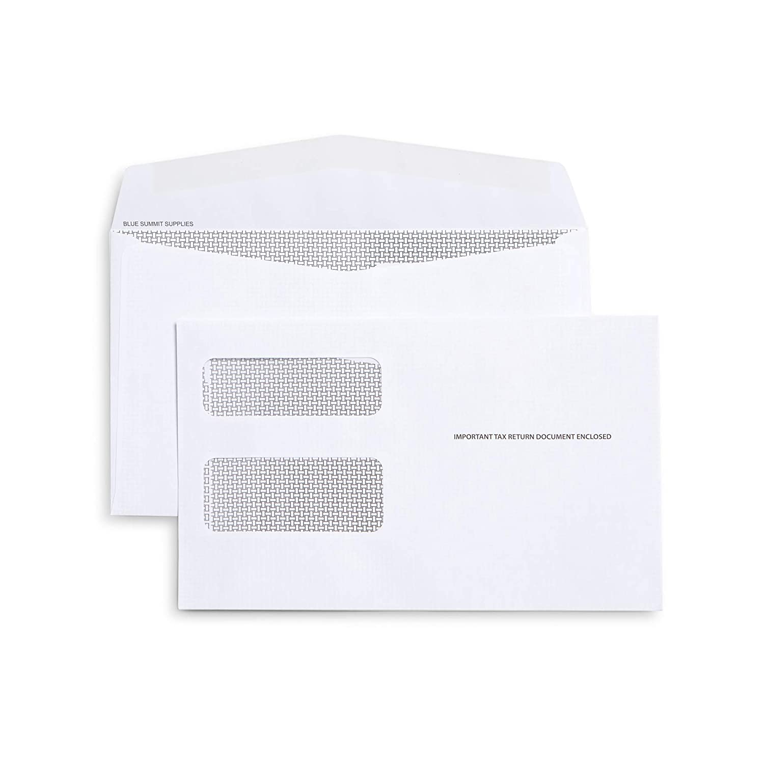 25 1099 MISC Tax envelopes – Designed for Printed 1099 Laser Forms from QuickBooks or Similar Tax Software – 5 5/8'' x 9'', Gummed Flap, 25 Form Envelopes (-026) Blue Summit Supplies