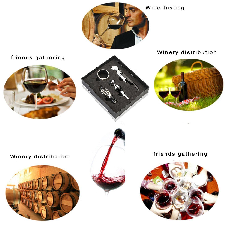 Wine Bottle Opener Gift Set Four sets of wine  Sea Horse Knife  Wine stopper Pourer Stop ring