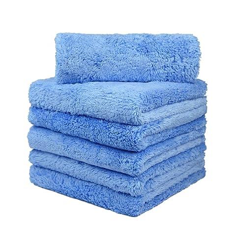 Carcarez microfibra Toallas de secado de lavado de automóviles de calidad profesional calidad toallas de microfibra