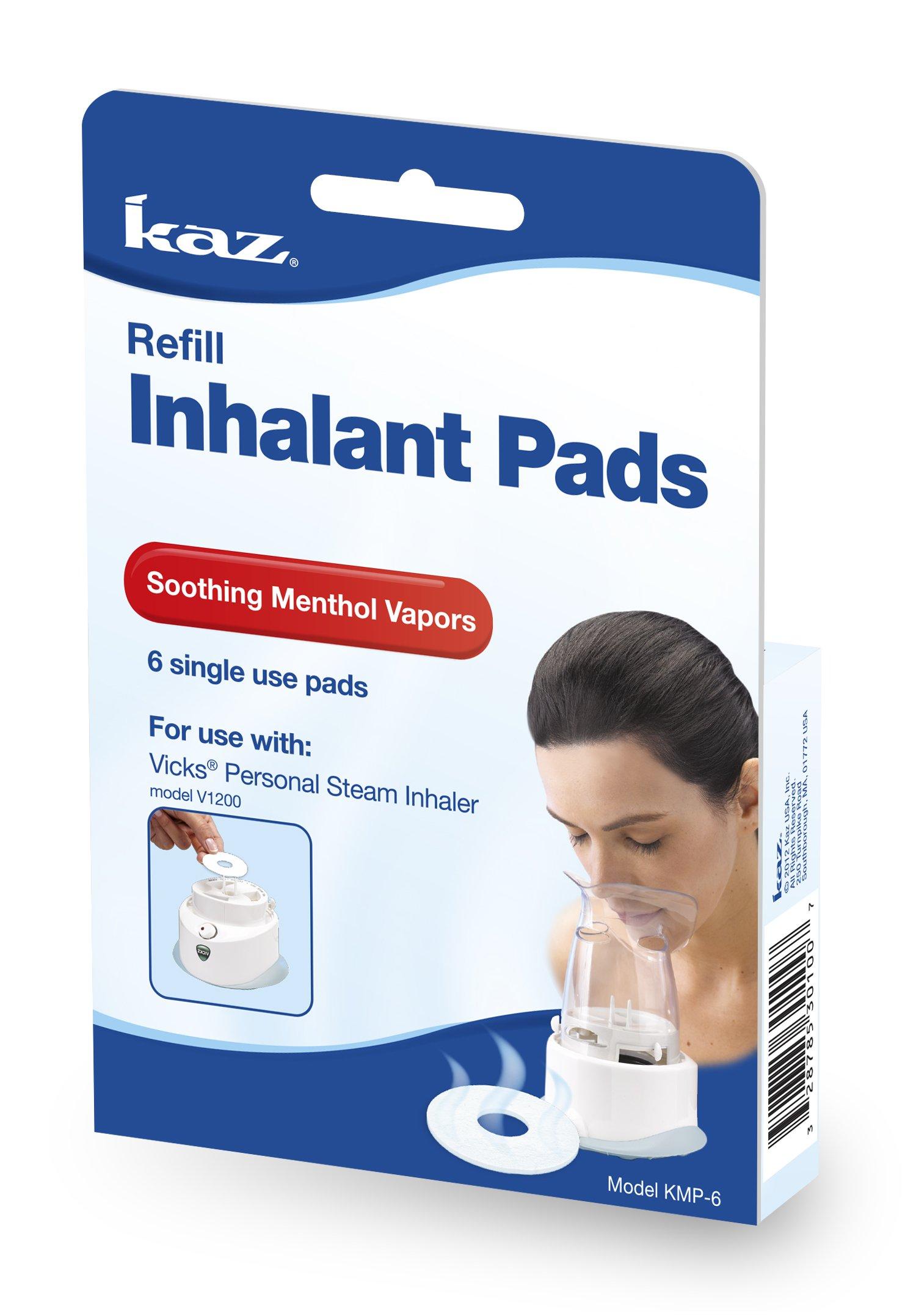 Kaz Aromatic Inhalant Pads, 6 Count by Kaz
