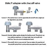 Hibbent No Leaking Design Metal Bidet T-adapter
