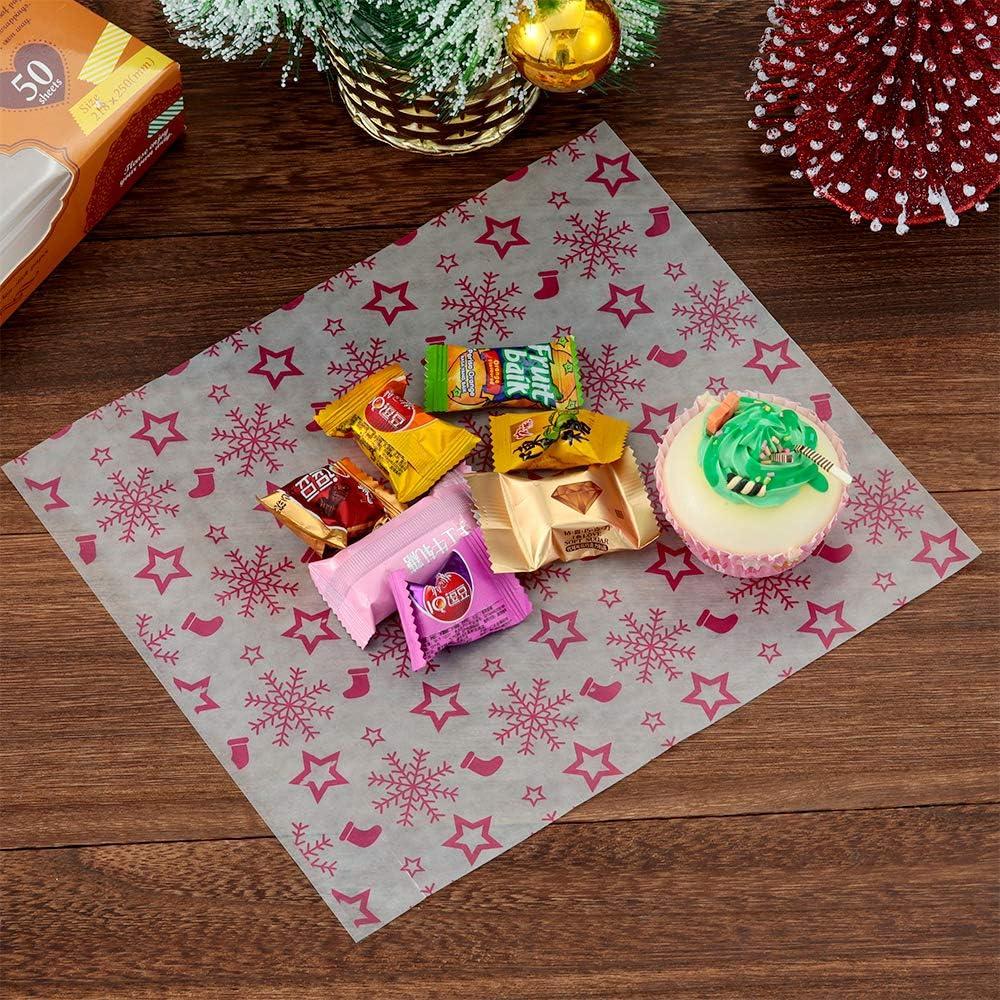 Greaseproof Merry Christmas Elk Waterproof Cake Wrapping Food Packing Wax Paper
