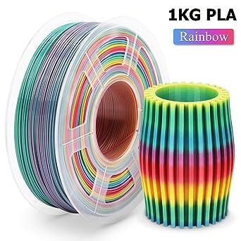 1KG 2.2 LBS ,1.75mm Filament Bonus with 5M PCL Nozzle Cleaning Filament PLA Filament Black 3D Hero PLA Filament 1.75mm,PLA 3D Printer Filament Dimensional Accuracy +//- 0.02 mm