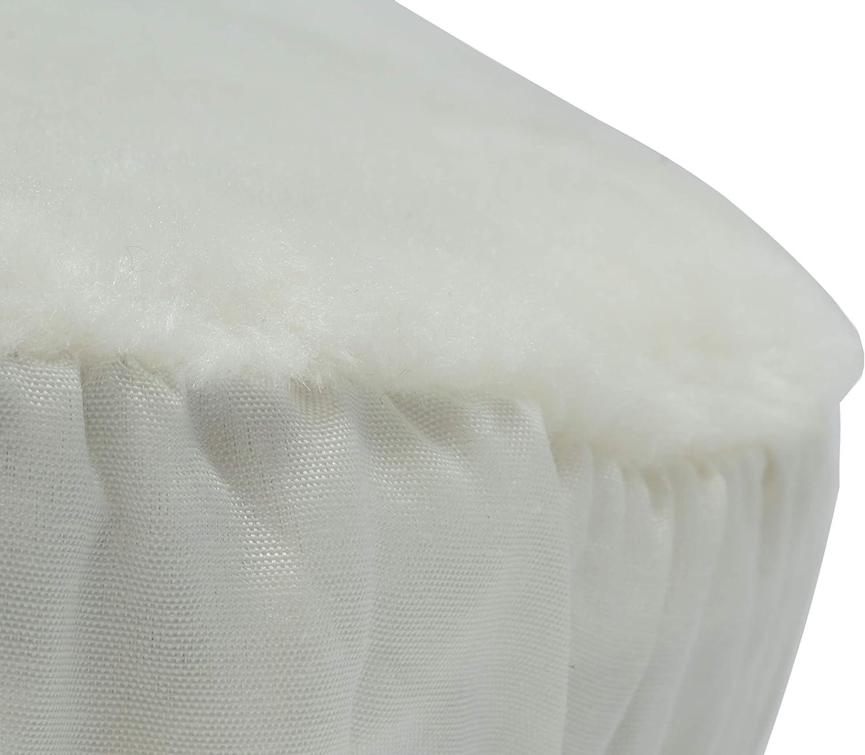 250 mm Polierteller Durchmesser Unviersal Synthetikfell Polierhaube mit Gummiband f/ür Auto Poliermaschinen mit 25 cm