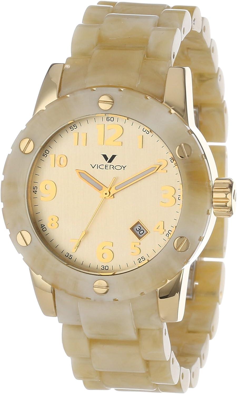 Viceroy 47668-95 - Reloj de Pulsera Hombre, Plástico, Color Beige