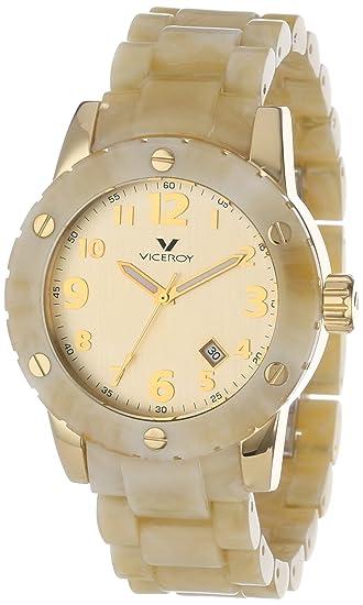 Viceroy 47668-95 - Reloj de Pulsera Hombre, Plástico, Color Beige: Amazon.es: Relojes