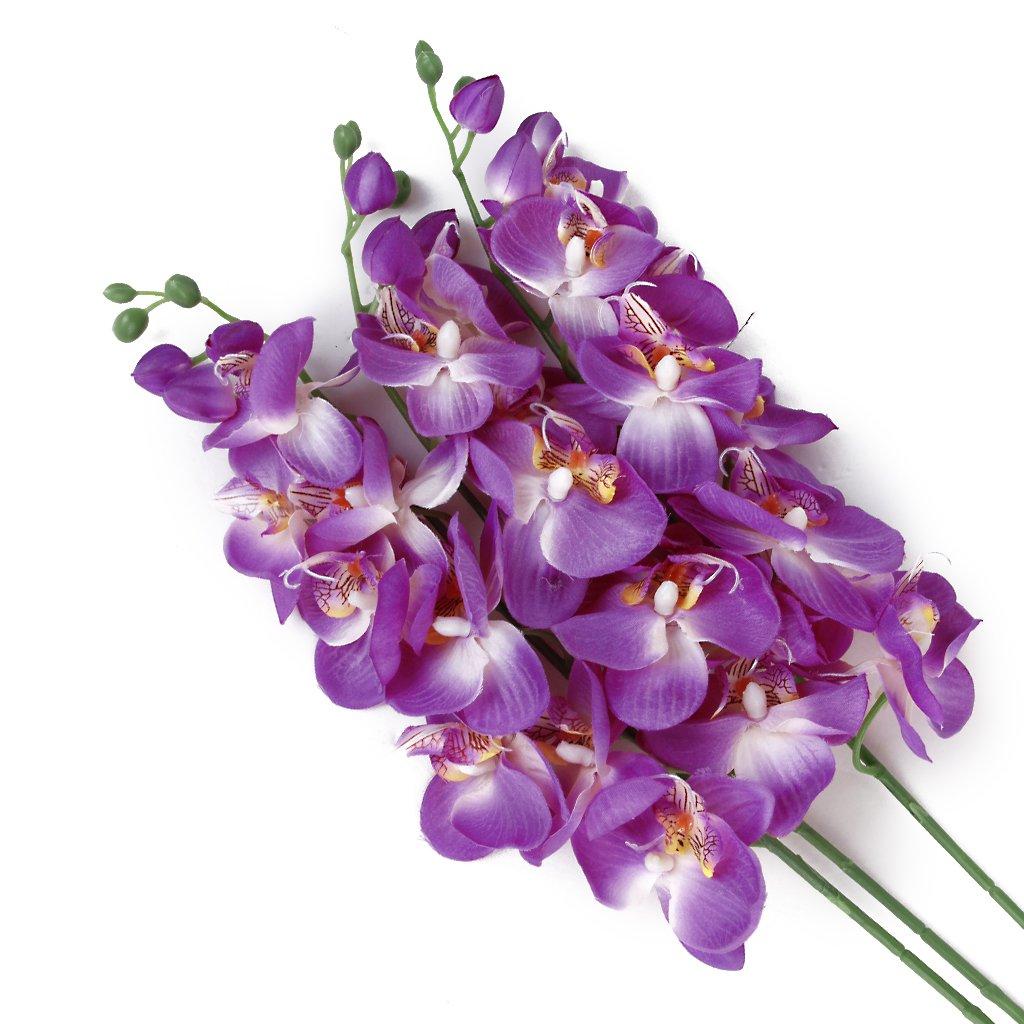 1 Pieza De Mariposa Artificial De Simulación De Plantas De Orquídeas De Flores - Púrpura: Amazon.es: Hogar