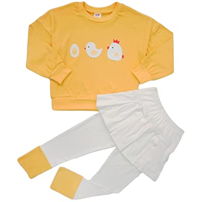 e03baf01d59b BomDeals Adorable Cute Toddler Baby Girls Clothes Set,Long Sleeve T-Shirt  +Pants Outfit