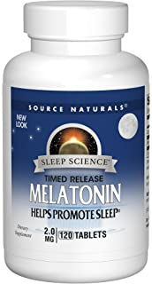 Source Naturals Sleep Science Melatonin 2mg - Time Release - 120 Tablets