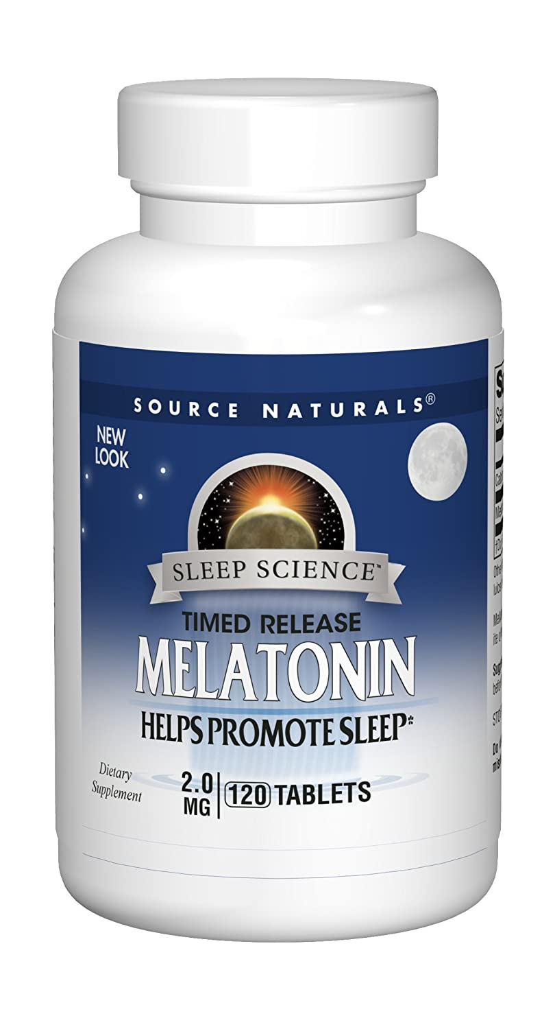 Amazon.com: Source Naturals Sleep Science Melatonin 2mg - Time Release - 60 Tablets (Pack of 2): Health & Personal Care