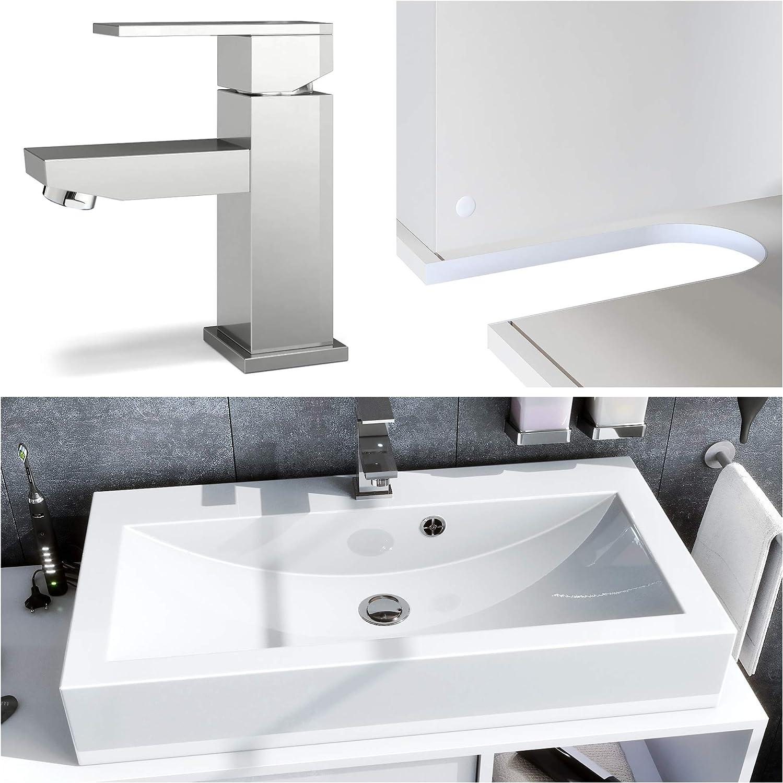 Conjunto de Muebles para baño La Costa, Cuerpo en Blanco Mate ...