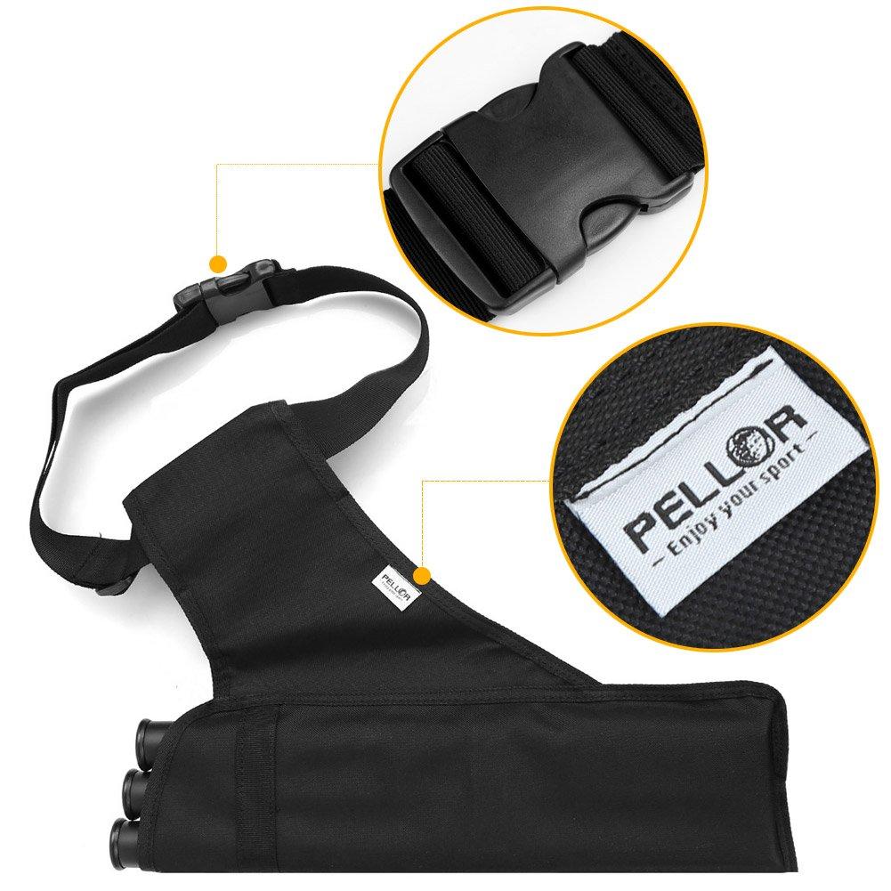 Pellor 3-R/öhrenk/öcher Pfeile Halter Verstellbarer Schultergurt