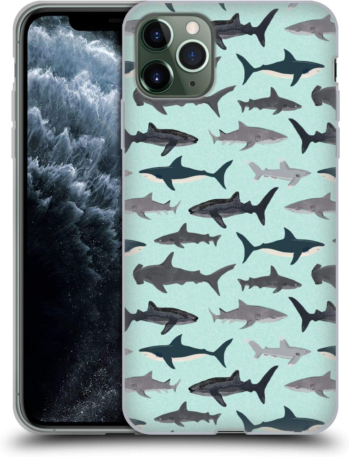 Head Case Designs Officially Licensed by Andrea Lauren Design Sharks Sea Life Soft Gel Case Compatible with Apple iPhone 11 Pro Max